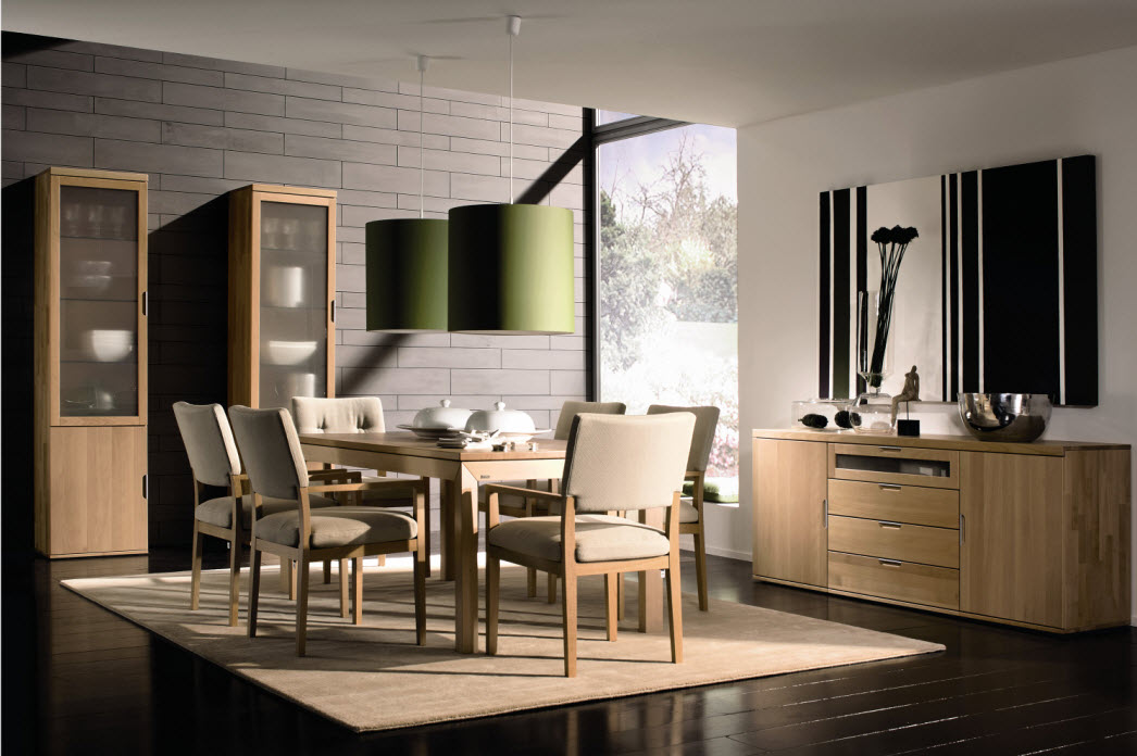 Awesome dining rooms from hulsta for Beautiful dining room photos
