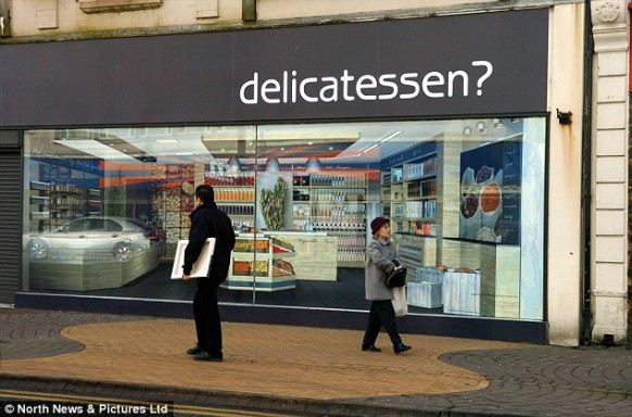 delicatessen window front