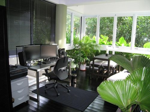 green balcony workspaces