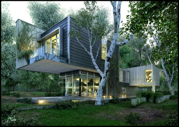 Really Amazing Renderings of Beautiful Houses 2010