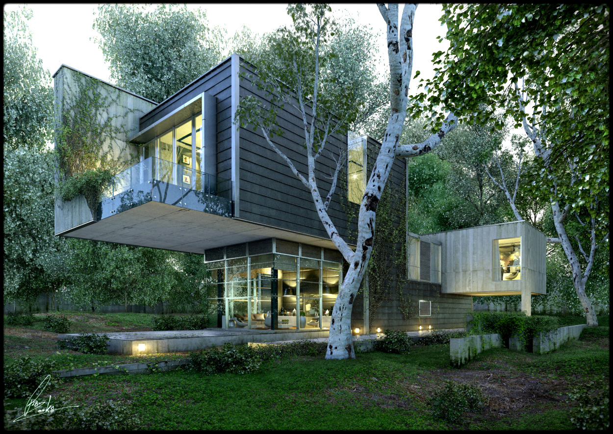 Amazing renderings of beautiful houses for Beautiful home lighting