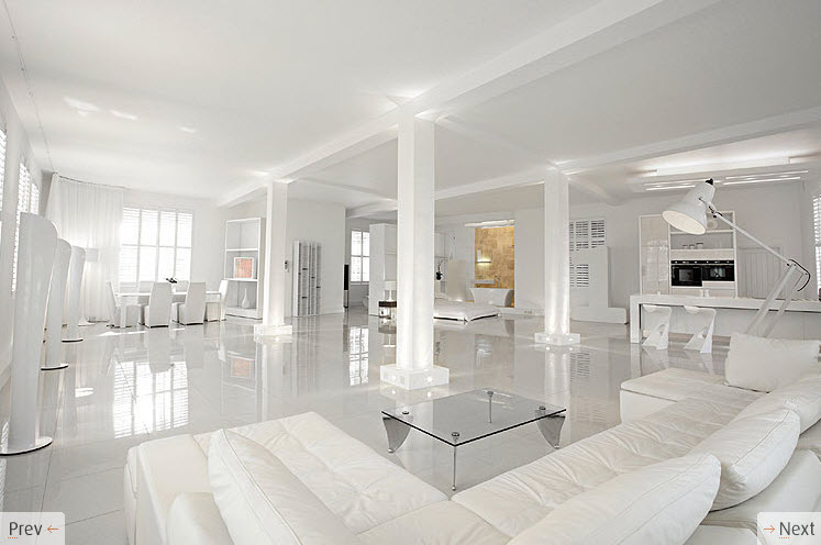White interior design Clean modern interior design