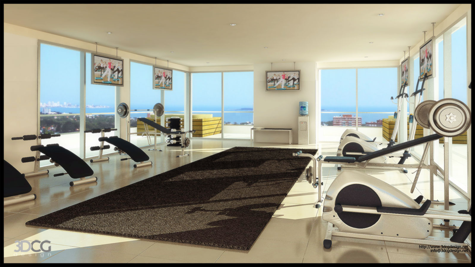 Home gym design tips and pictures for Home gym room