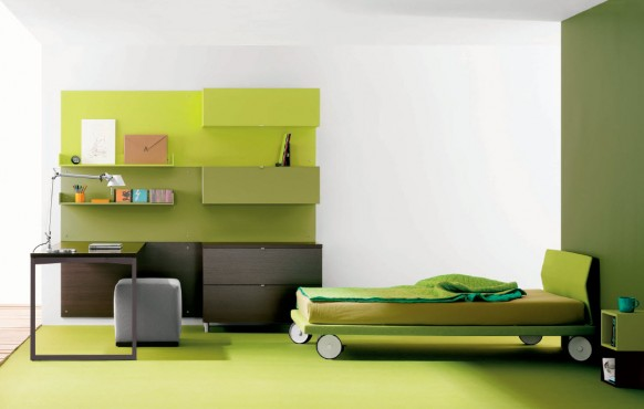aqua green teen room