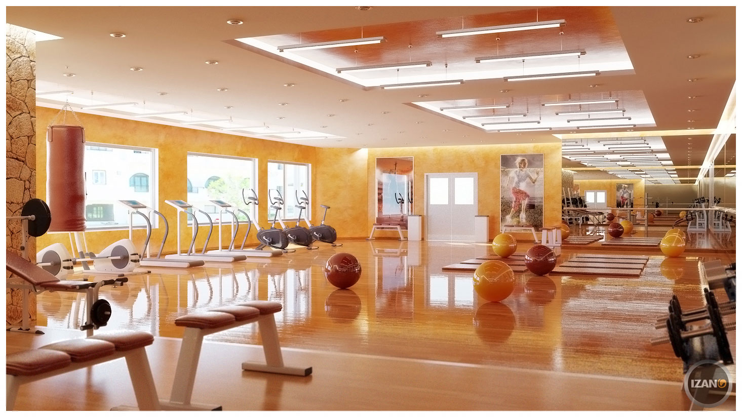 Home gym design tips and pictures - Beautiful home interior color ideas ...