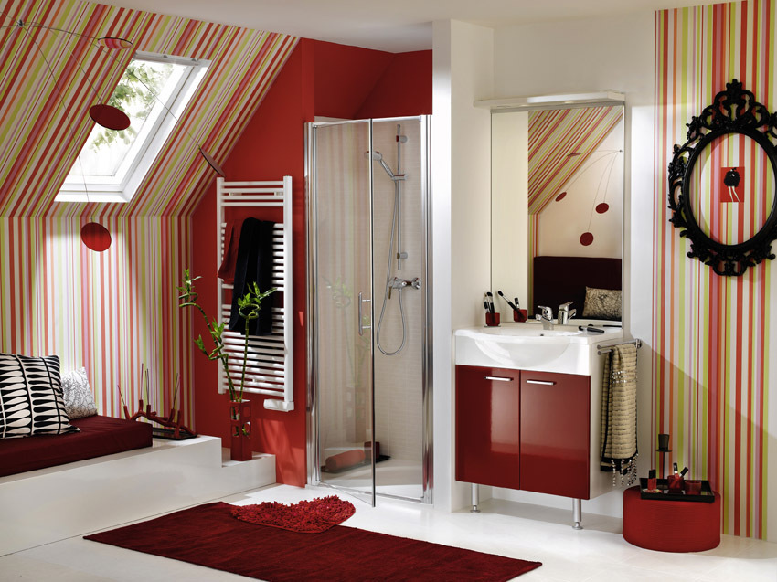 red bathroom delpha - ♥superb design bathroom♥
