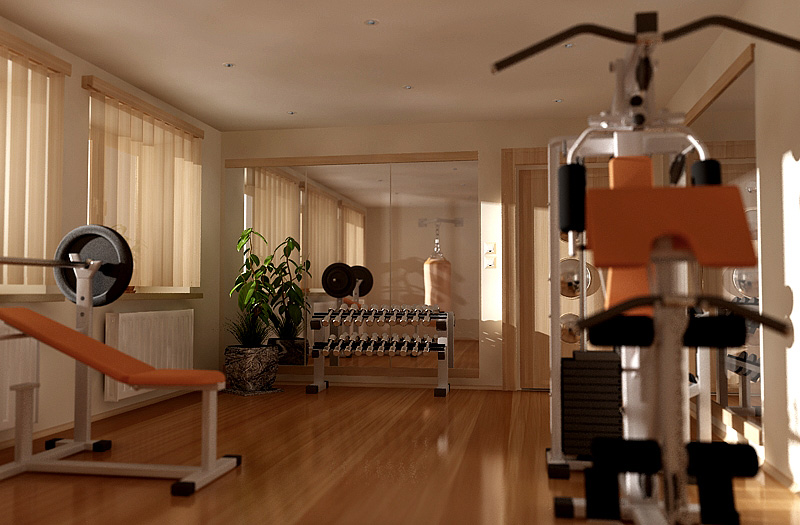 Home exercise room simple decoration tips