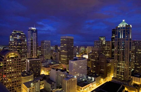 Exclusive view of the Seattle skyline design