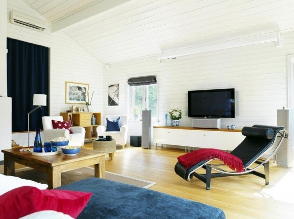 Modern Scandinavian Living Room Entertainment Setups
