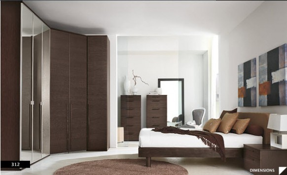 Perfection modern themed bedroom designs