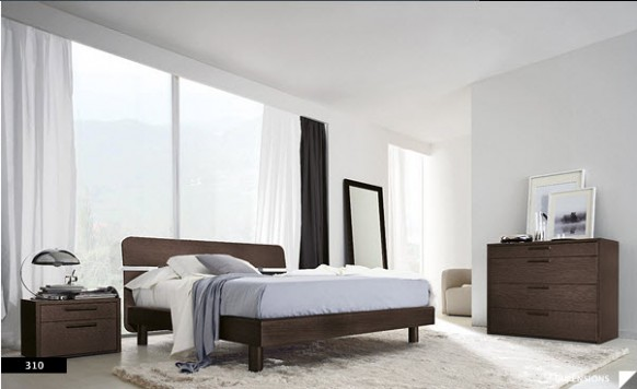 clean modern bedroom
