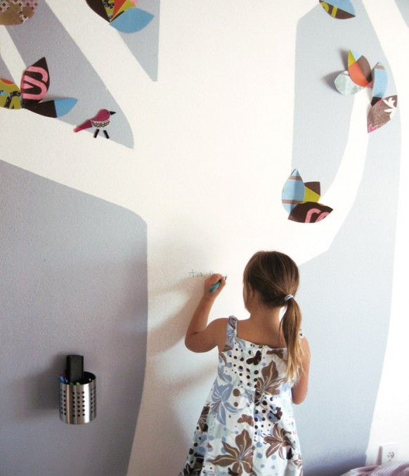 kids bedroom wall