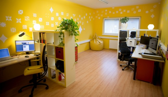 office, yellow office, office furniture
