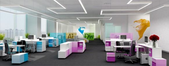 An Artistic  Visualization  Adobe Office