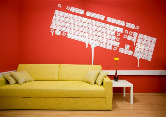 Creative office spaces with red color | NATURAL INTERIOR DESIGN 2010