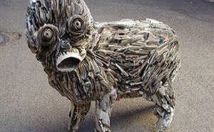 newspaper-sculpture