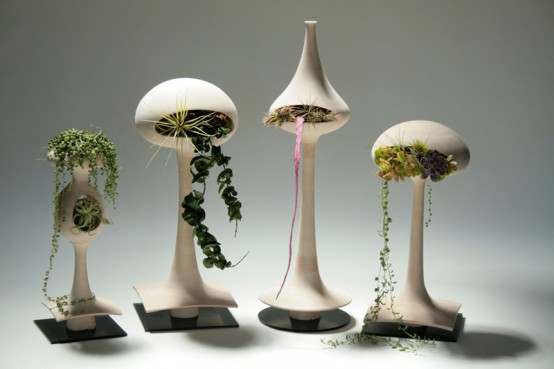 alien-like Plant pots are