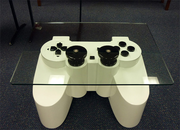 Playstation Controller Coffee Table 1 - Strange Table Designs
