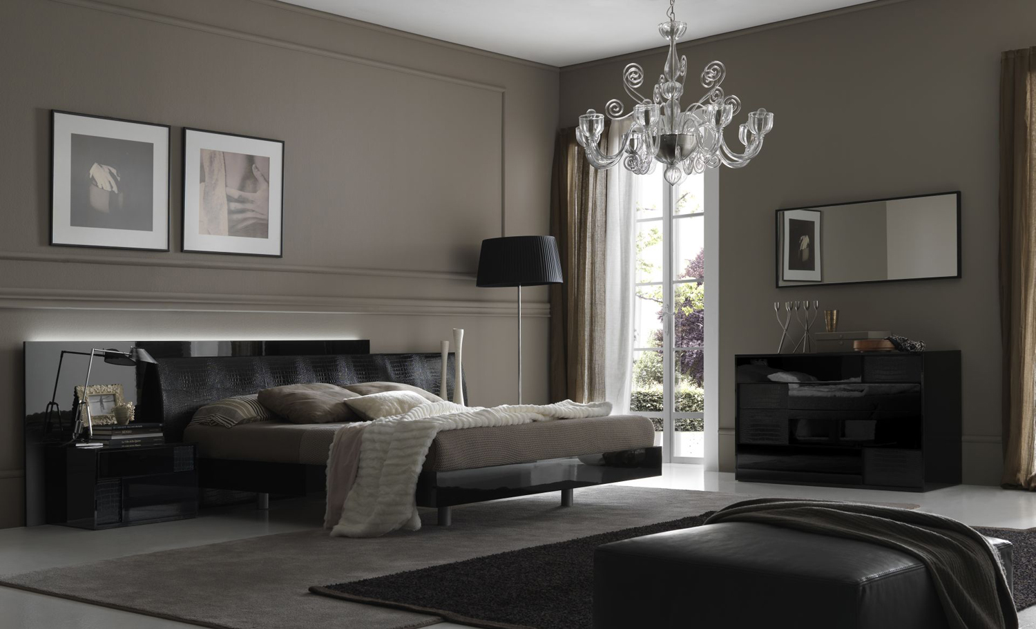 Bedroom decorating ideas from evinco for Modern vintage bedroom designs