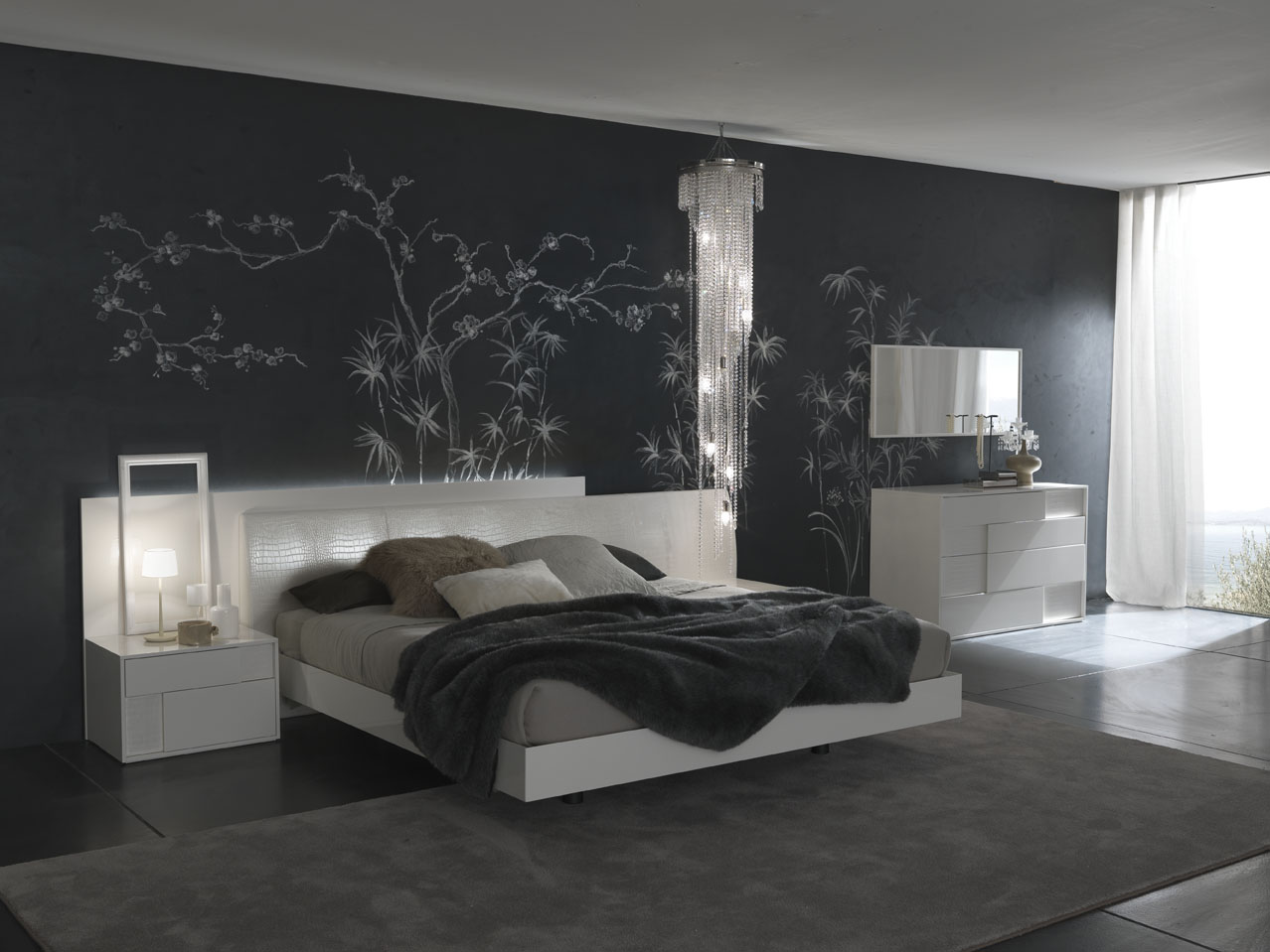 Bedroom decorating ideas from evinco - Wall painting ideas for bedroom ...