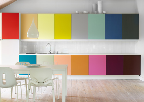 Kitchen Cabinets: Multi Colored Kitchen Cabinets
