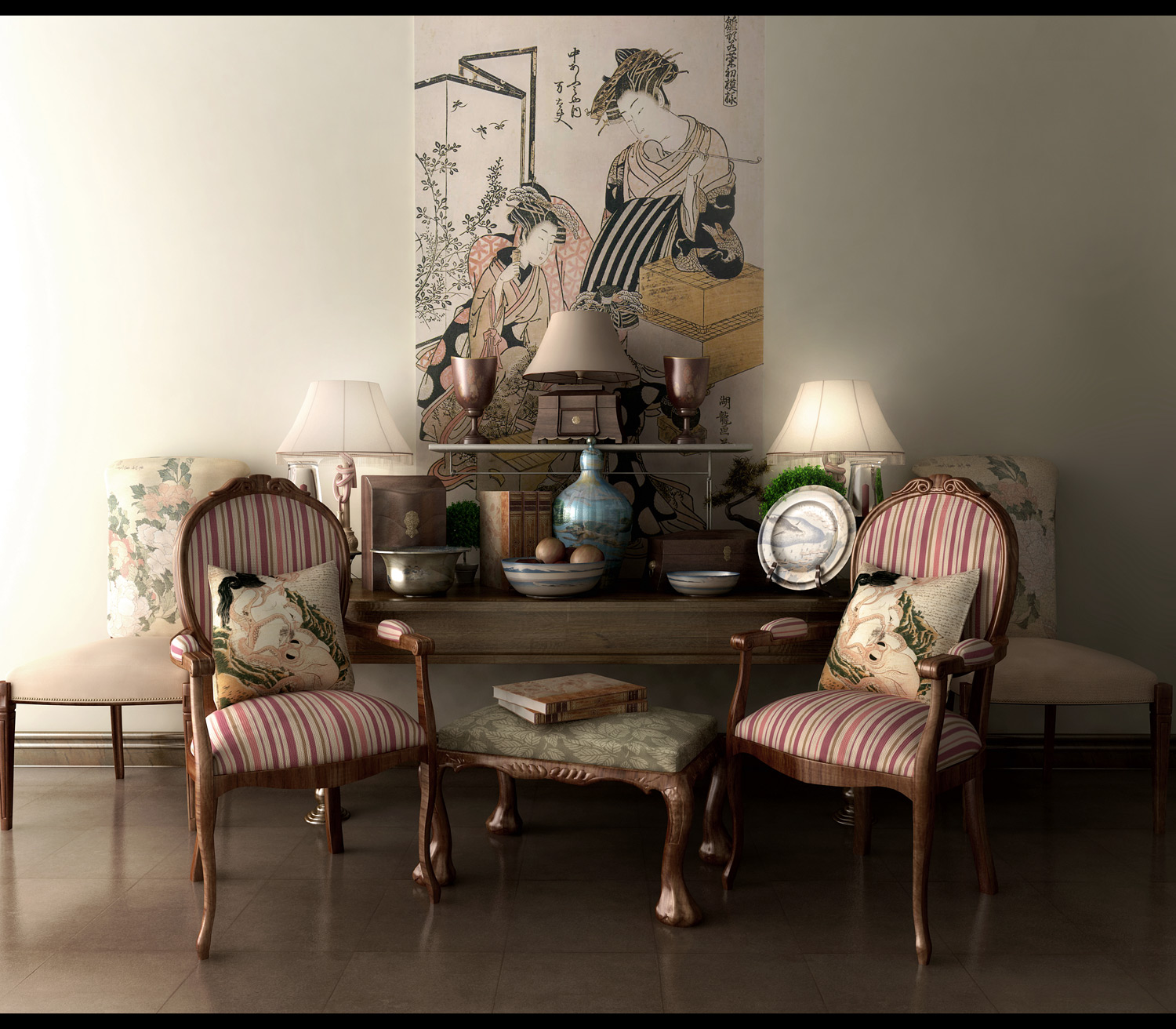 Asian Inspired Living Room: 10 Classic And Retro Style