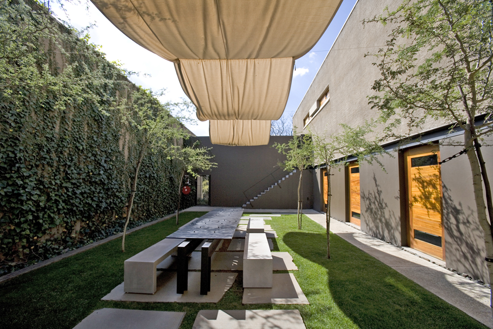 Courtyard design and landscaping ideas for Modern house with courtyard