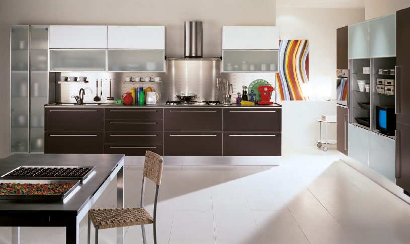 Modern style italian kitchens from scavolini for Contemporary kitchen colours