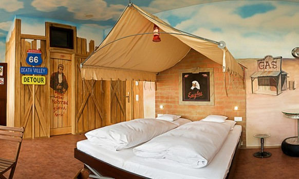 V8 Hotel Germany Wild West theme 582x348 Amazing Car Themed Rooms