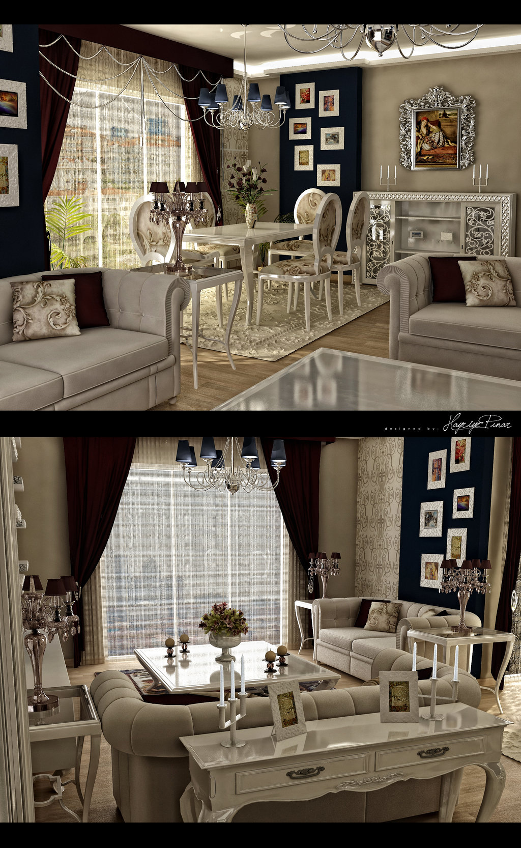 Living Room And Dining Room Decorating Ideas: Classic And Retro Style Living Rooms