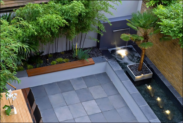 Beautiful roof gardens and landscape designs vertical for Contemporary courtyard garden designs