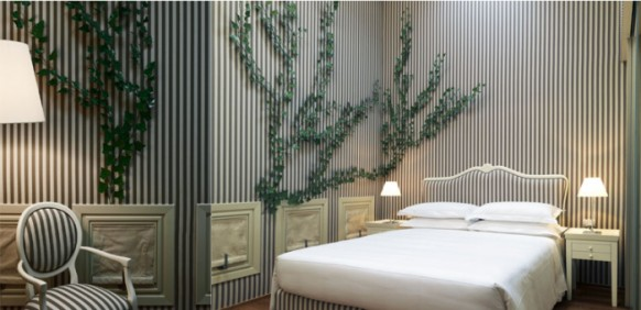 ������� ����� ������ ���� ����� Milan-Hotel-fairy-tale-decor-stripe-vines-room-582x282.jpg