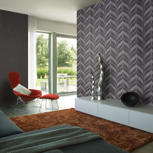 ... tribal about this wallpaper in such a modern setting. Any thoughts