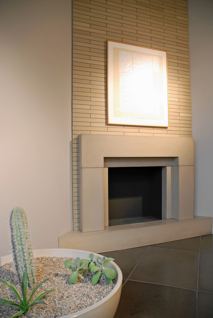 Fireplace mantels and surrounds - How to make a brick fireplace look modern ...