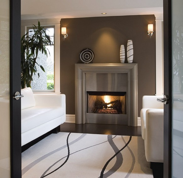 ������ ������ ������ ������ Modern-fireplace-cast-concrete-mantel-stainless-steel-582x566.jpg