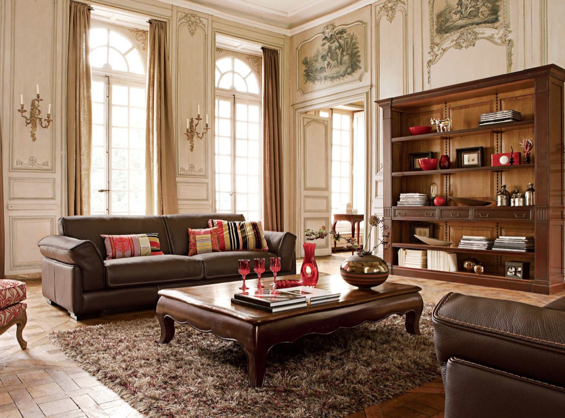 Luxury living rooms ideas inspiration from roche bobois for Classic room design