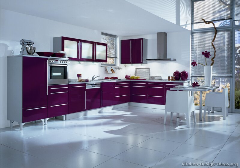 purple kitchens. Black Bedroom Furniture Sets. Home Design Ideas