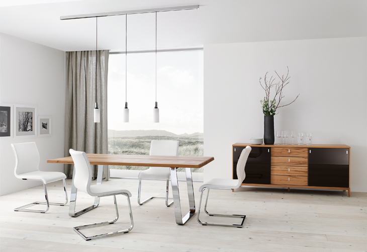 White Contemporary Dining Table