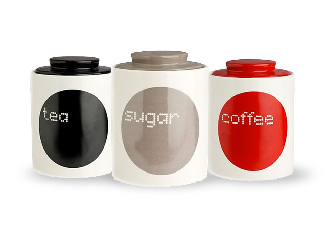 Coffee tea and sugar jar galore - Modern tea and coffee canisters ...
