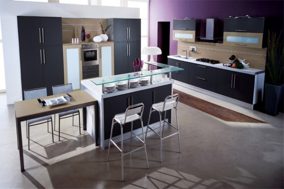 purple-colored-kitchen
