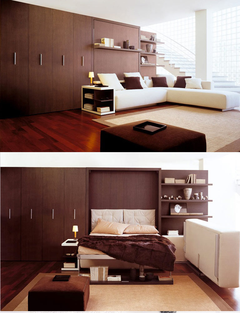Multi purpose furniture - Saving space bedroom ...
