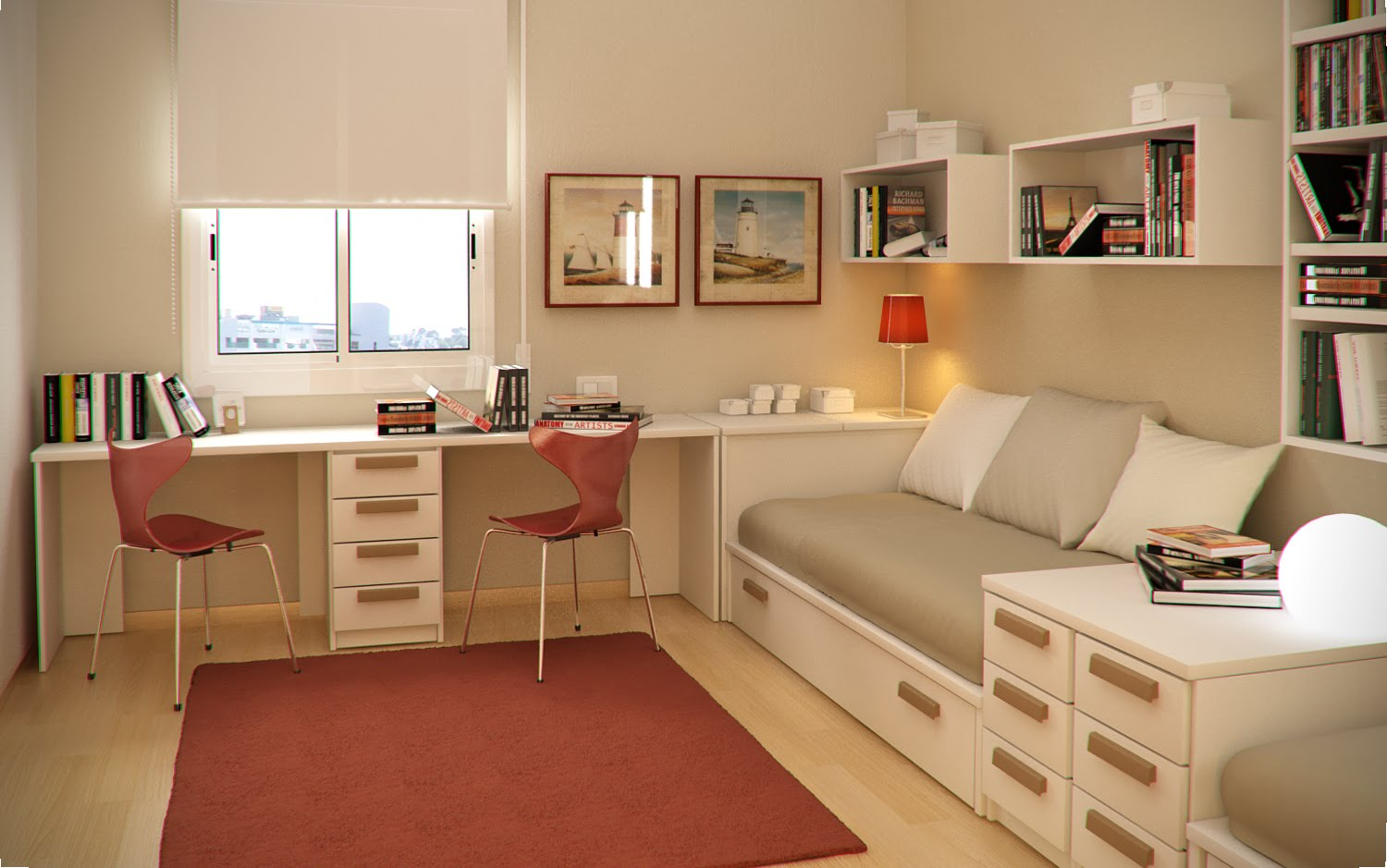 Small floorspace kids rooms Study room ideas