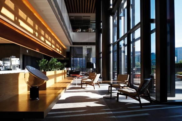 ANZ business centre client meeting space modern office