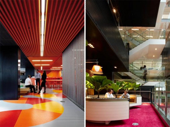 ANZ business centre colorful modern office spaces