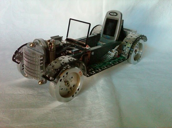 Classic Car recycled art