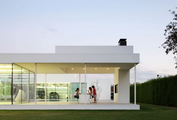 Contemporary Villa VH by Beel Achtergael Architecten dining alfresco style