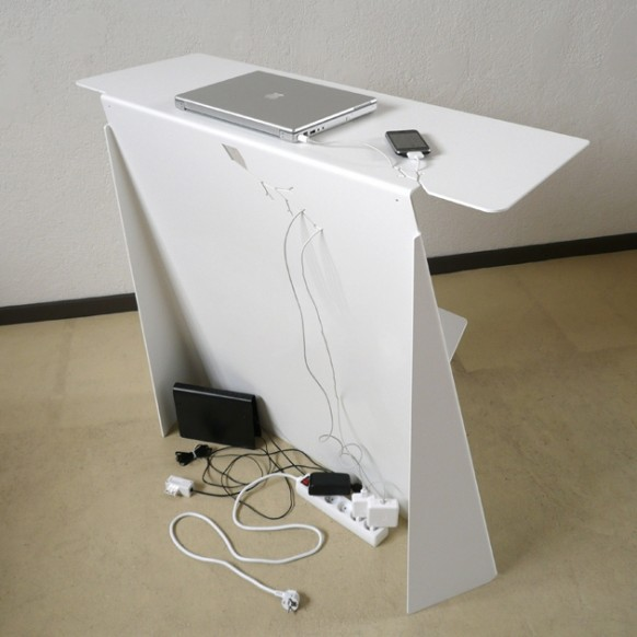 desk hidden wiring
