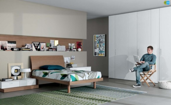 neutral Contemporary Teenagers bedroom