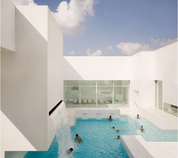 My dream house indoor pool inspiration an aquatic center for Pool design france