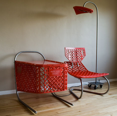 recycled shopping cart art